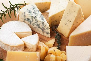 Assorted cheese board