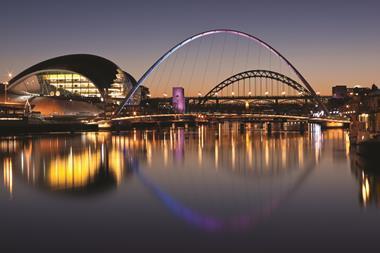 Gateshead Tyne and Millennium bridges, in Newcastle