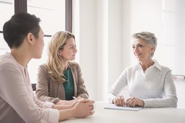 Women in workplace meeting