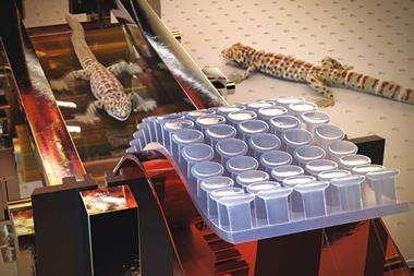 Production line for gecko-inspired adhesive