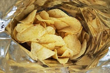 An image showing the inside of a bag of potato crisps
