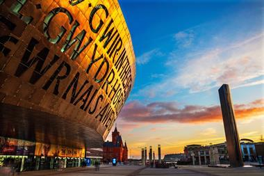Cardiff, Uk - November 30, 2014. Millennium Centre in Cardiff Bay, Wales.