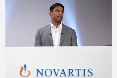 An image showing Vas Narasimhan, CEO of Swiss pharmaceutical group Novartis