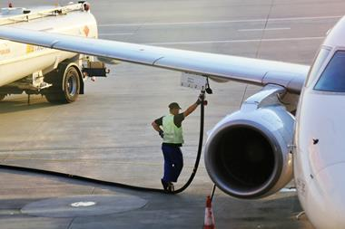 An image showing the refueling of an aircraft