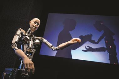 An image taken at the Barbican exhibition AI: More than Human