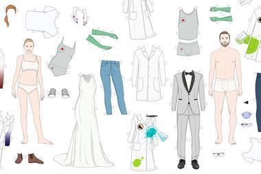 Reinventing the lab coat, concept illustration