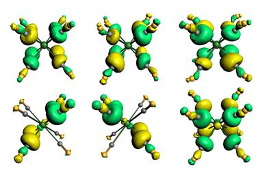 Orbitals of the 18e main group complexes