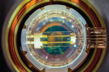 The transparent electrodes used to manipulate polar KRb molecules confined by an optical lattice inside an ultrahigh vacuum cell