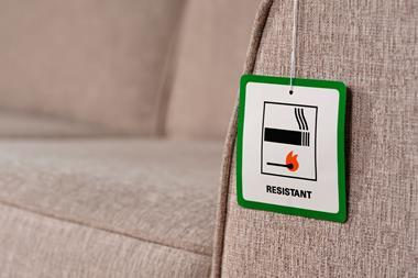 An image showing a flame resistant label