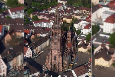 Aerial photograph of Freiburger Münster