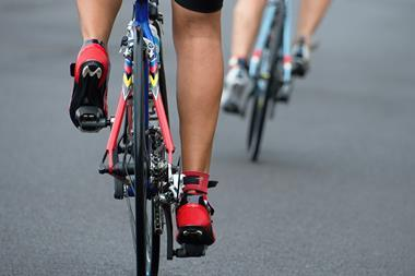 Cycling road race – from behind