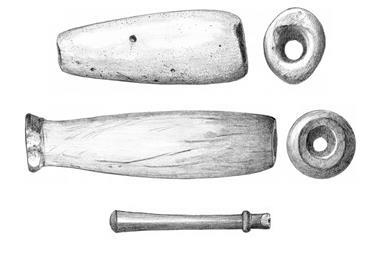 Images of stone smoking pipes from sites in the Columbia River basin