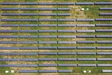 Solar plant near Beijing, China