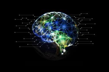 AI (artificial intelligence) concept, machine learning, nanotechnologies and another modern technologies concepts, Industry 4.0 concept and global network technology