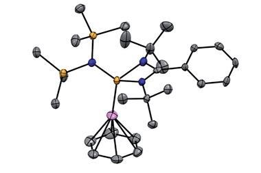 The molecular structure reveals the h6 coordination mode of benzene to the Cu center