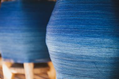 Indigo cotton yarn