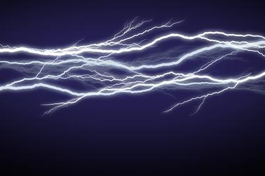 Horizontal field of lightning/electricity/energy.