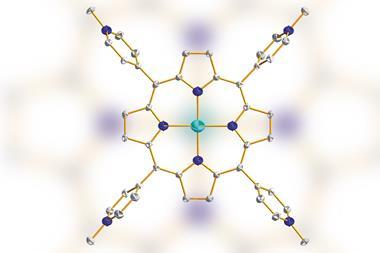 A picture showing the copper complex of tetrakis(4-N-methylpyridyl)porphyrin