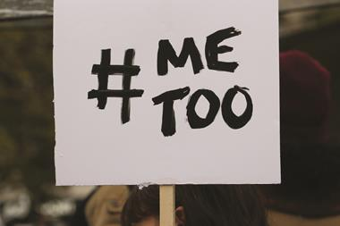 #MeToo placard - Women protesting against sexual violence, Oct 2017