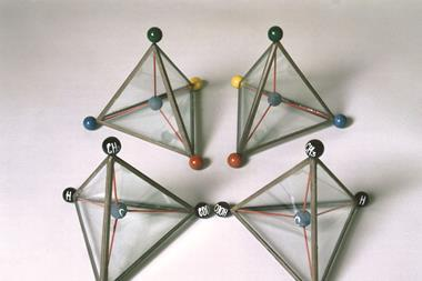 Models illustrating Van't Hoff's theory of the asymmetric carbon atom, c 1874