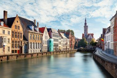 A photograph of the canals of Bruges, Belgium