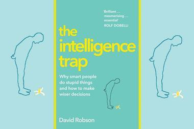 An image showing the book cover of The Intelligence Trap
