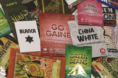 A selection of legal high packets in the UK