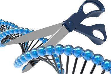 3D illustration for the concept of genetic code manipulation