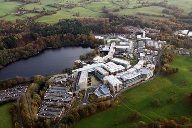 An image showing an aerial view of Alderley Park