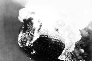 Hindenburg burning