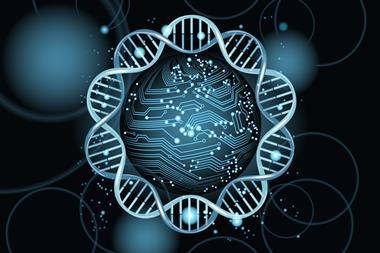 An image showing the concept of DNA computing