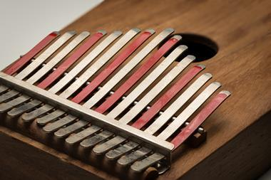 A photograph of a thumb piano