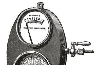 c0229066 Bourdon pressure gauge 19th century