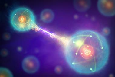 A conceptual illustration showing quantum entanglement