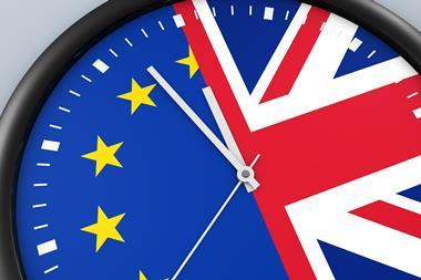 Count down to Brexit clock illustration
