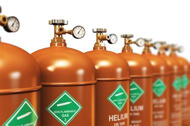a row of gas cylinders