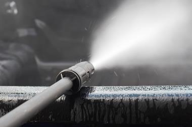 High-pressure spray washer