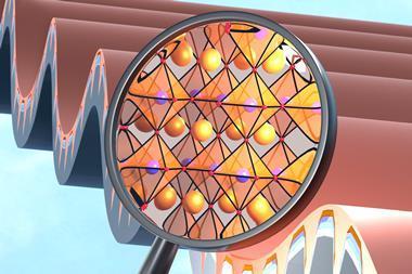 An image showing a flexible back-contact perovskite solar micro-module