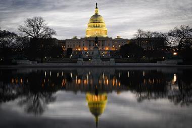 Capitol Building at dusk, Washington DC, USA