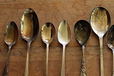 Image of tarnished silver spoons