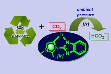 A scheme representing the catalytic conversion of CO2 to formate