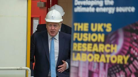 UK Prime Minister Boris Johnson visits the Fusion Energy Research Centre