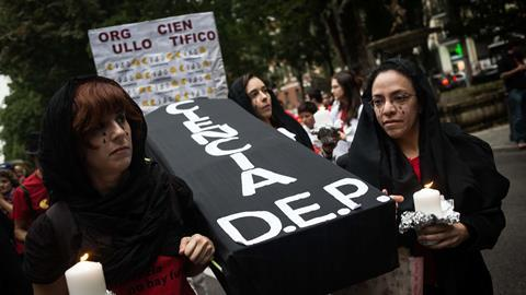 Thousands of people gathered in Madrid to protest against budget cuts to science