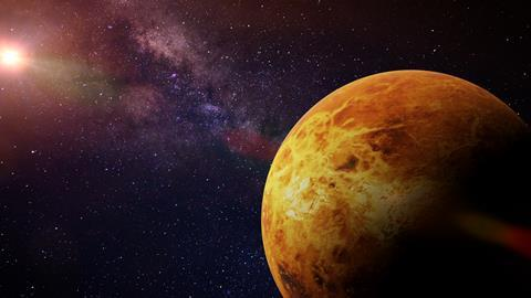 A illustration of the planet Venus