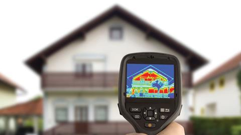 Thermal imaging a house