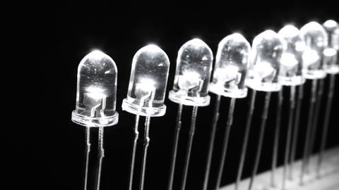 A picture of light emitting diodes