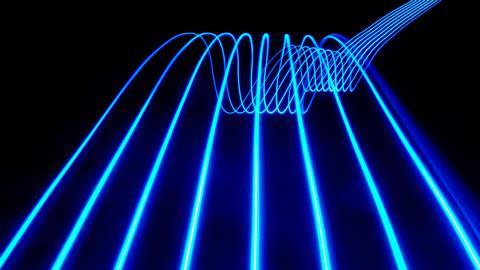 Blue abstract light trails