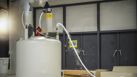 A photograph of an NMR spectrometer