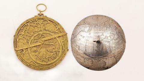 Astrolabe and globe