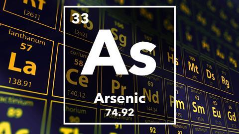 Periodic table of the elements – 33 – Arsenic